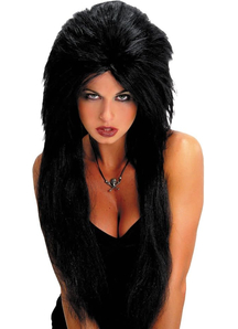 Black Vampiress Wig For Halloween