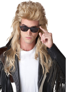 Blonde Wig For 80'S Rock Mullet