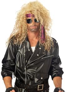 Blonde Wig For Heavy Metal Rocker