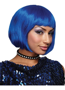 Blue Bob Wig For Adults