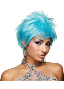 Blue Vivid Wig For Adults
