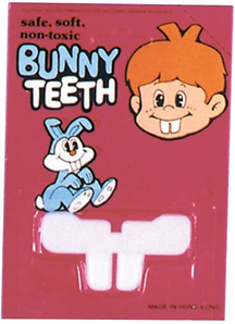 Bunny Teeth Blister Card