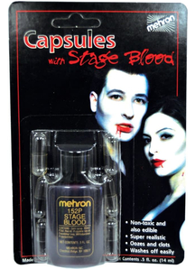 Capsules 1/2 Oz Blood 6 Pk Mehron