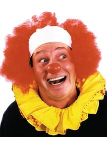 Clown Bald Curly Red Wig For Adults