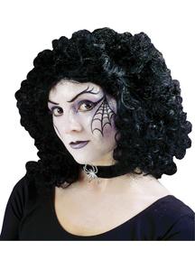 Curly Party Black Peruke