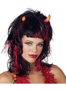 Demonica Devil Peruke Black And Red