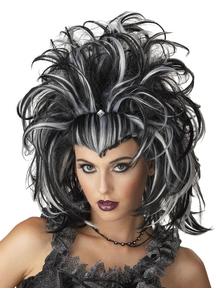 Evil Sorceress Peruke Black White