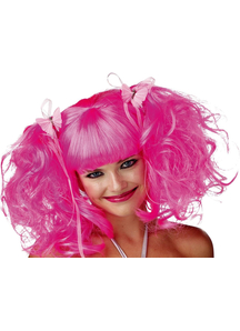 Fairy Wig Pink Rose Pixie