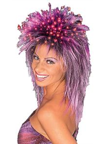 Fiber Optic Peruke Purple