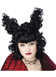 Gothic Vampire Black Wig For Halloween