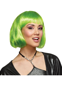 Green Bob Wig For Adults
