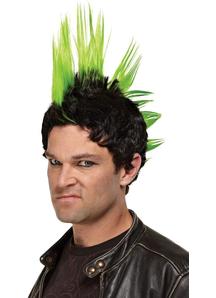 Green Wig For Punk Rocker