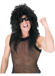 Headbanger Curly Black Wig
