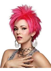 Hot Pink Vivid Wig For Adults