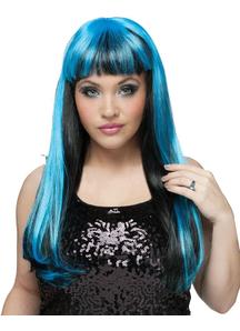 Neon Black/Blue Wig