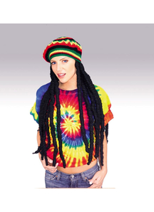Rasta Wig With Cap For Adults