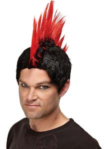 Red Wig For Punk Rocker