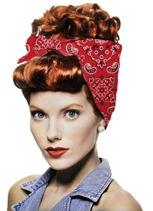 Rivetor Red Wig For Women