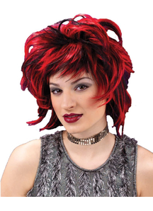 Short Wig Club Red Black