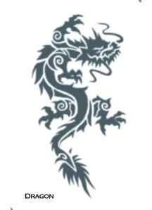 Tattoo Tribal Dragon