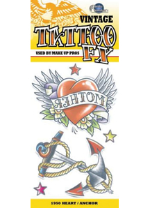 Tattoo Vintage Heart Anchor