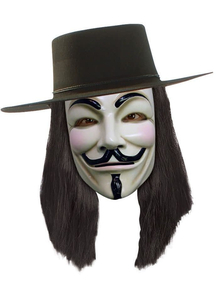 V For Vendetta Black Wig