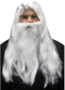 Wig And Beard Set For Merlin