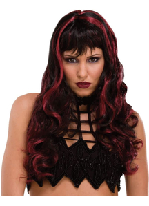 Wig Craft Black/Burgundy For Witch Costume