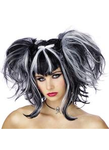 Wig For Bad Fairy Black White
