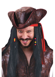 Wig For Carribean Pirate 30 In