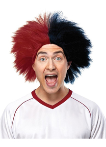 Wig For Sports Fun Burgundy Black