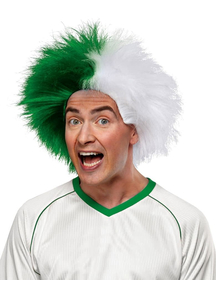 Wig For Sports Fun Green White