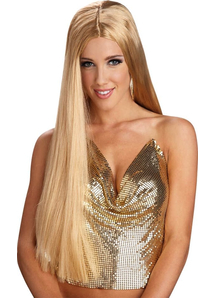 24 Inch Straight Blonde Peruke