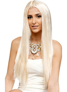 25 Inch Blonde Long Locks Peruke