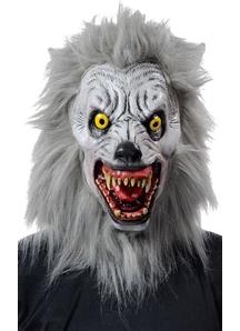 Albino Werewolf Mask Realistic For Halloween