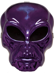 Alien Hockey Purple Mask For Halloween