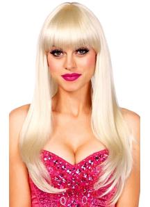 Bangin Long Straight Blond Peruke