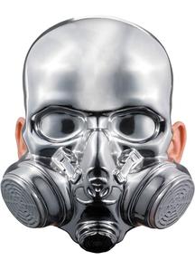 Bio-Hazard Chrome Mask For Halloween
