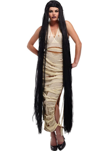 Black 60 Inch Straight Wig For Women