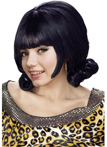 Black Flip Wig For Women