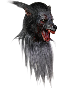 Black Wolf Adult Latex Mask For Halloween