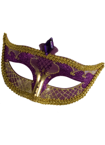 Carnival Mask No Feather Blue For Masquerade