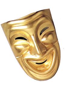 Comedy Mask Gold For Masquerade