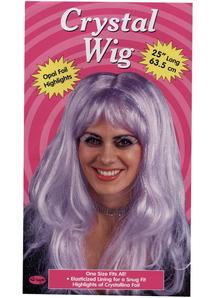 Crystal Purple Wig For Women