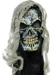 Gauze Skull Mask For Halloween