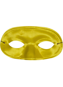 Half Domino Mask Yellow For Adults
