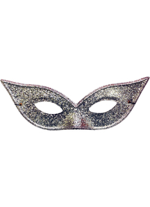 Harlequin Mask Lame Silver For Adults