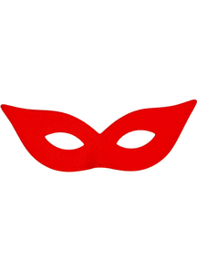 Harlequin Mask Satin Red For Adults