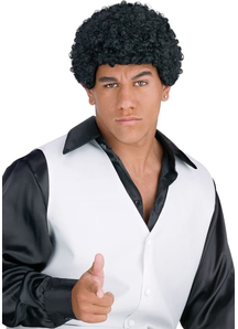 Jheri Curl Black Wig Foe Men