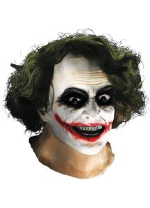 Joker Latex Mask W Hair For Adults